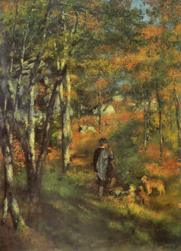 Pierre-Auguste Renoir. Jules Le Coeur in the forest of Fontainebleau