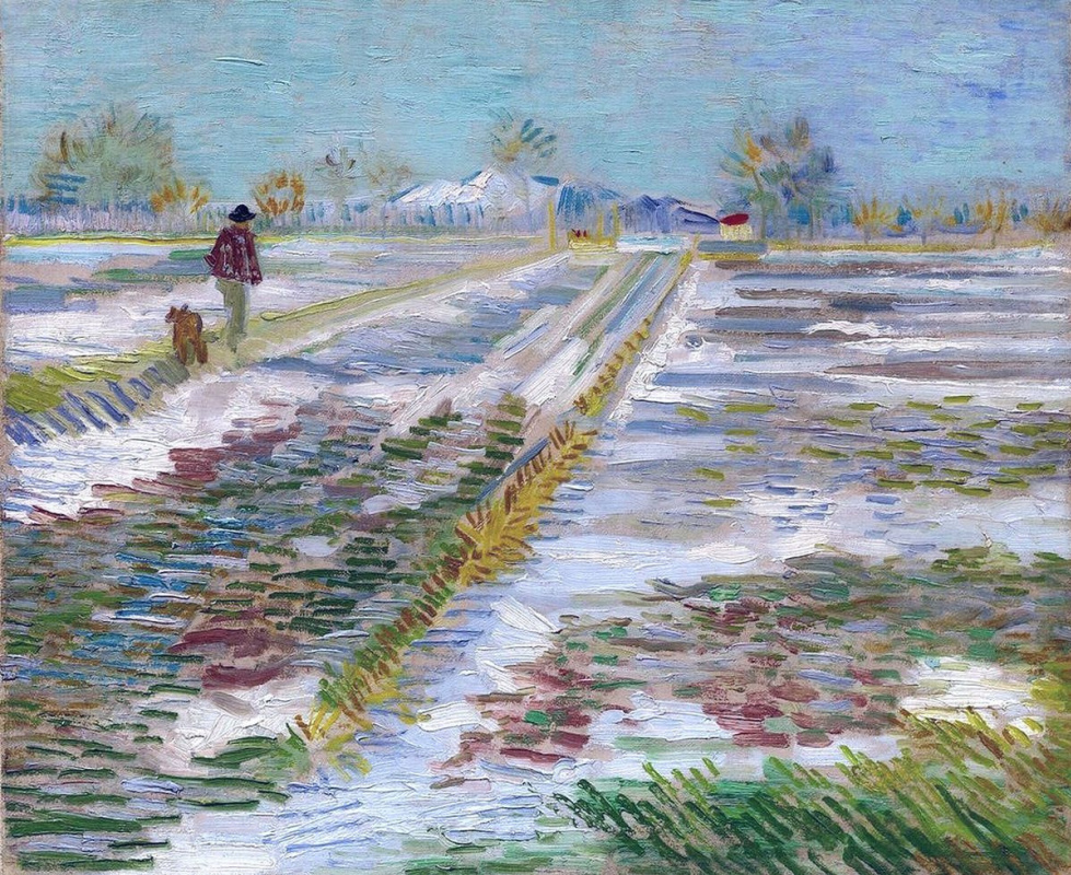 Vincent van Gogh. The snow on the fields near Arles