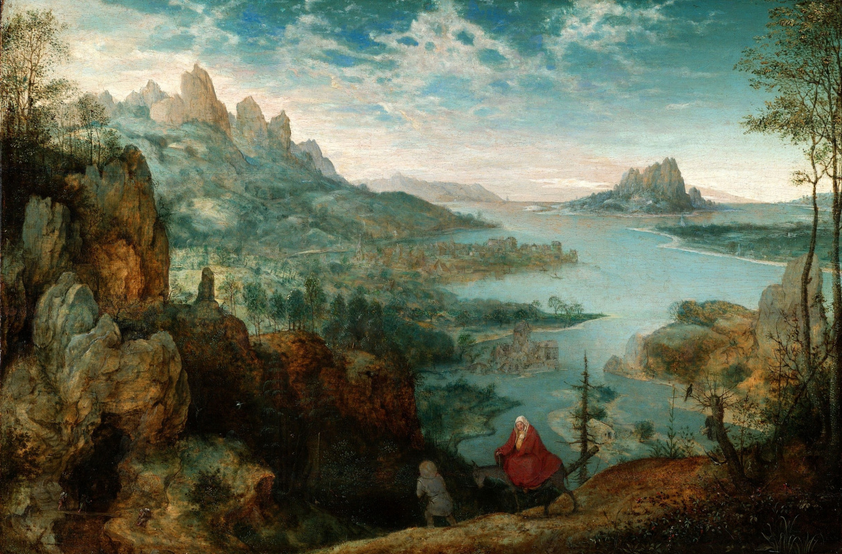 Питер Брейгель Старший. Пейзаж с бегством в Египет