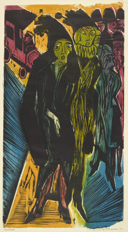 Ernst Ludwig Kirchner. Street scene
