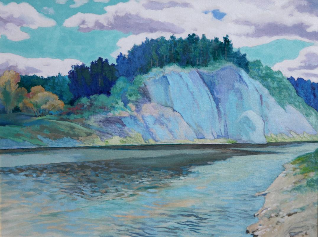"Сергей Георгиевич Леконцев. ""Siberian mood. Biryusa river"""