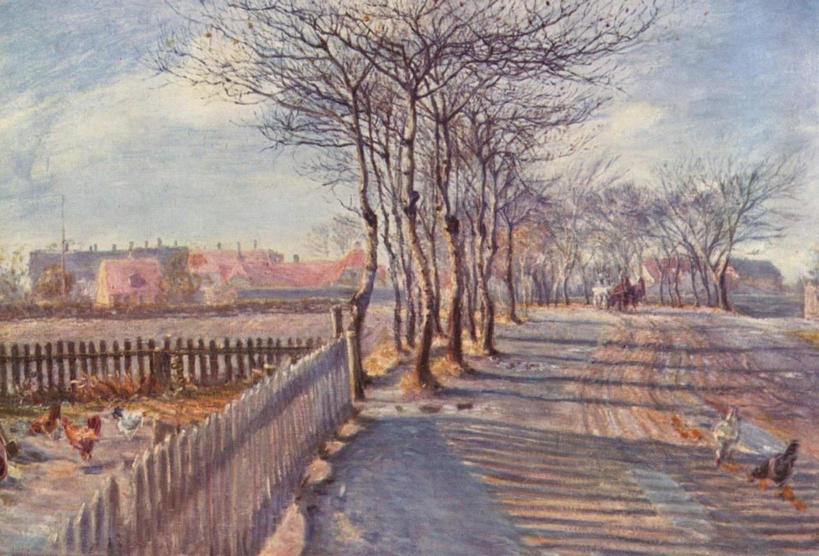 Theodore Esburn Philipsen. Alley near Kastrup