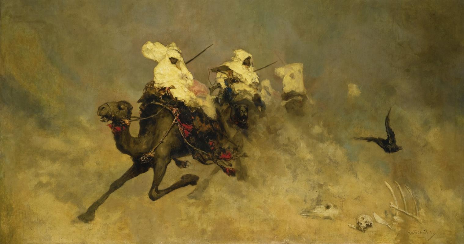 Вильгельм Александрович Котарбинский. Всадники на верблюдах
