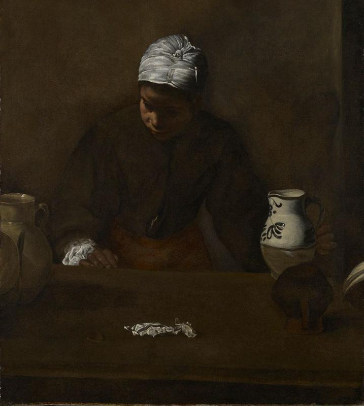 Diego Velazquez. Kitchen Maid