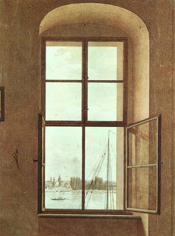 Caspar David Friedrich. View from the artist's studio