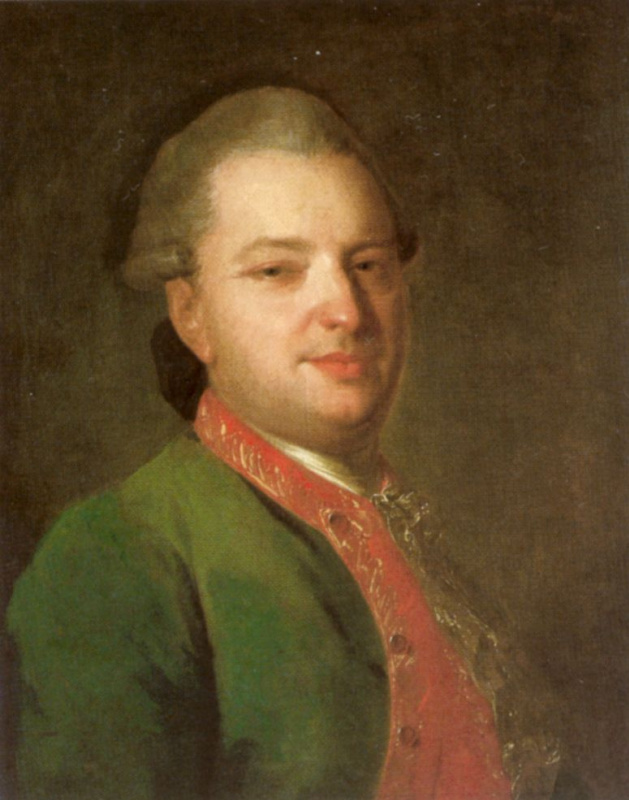 Fedor Stepanovich Rokotov. Portrait of the poet Vasily Maikov