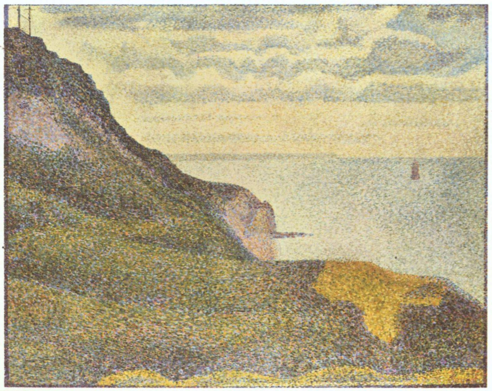 Georges Seurat. The tower and sea view in port-EN-Bessin