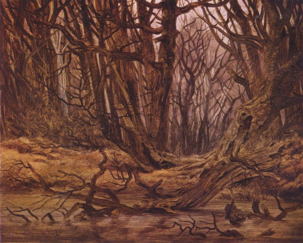 Каспар Давид Фридрих. В лесу, поздняя осень