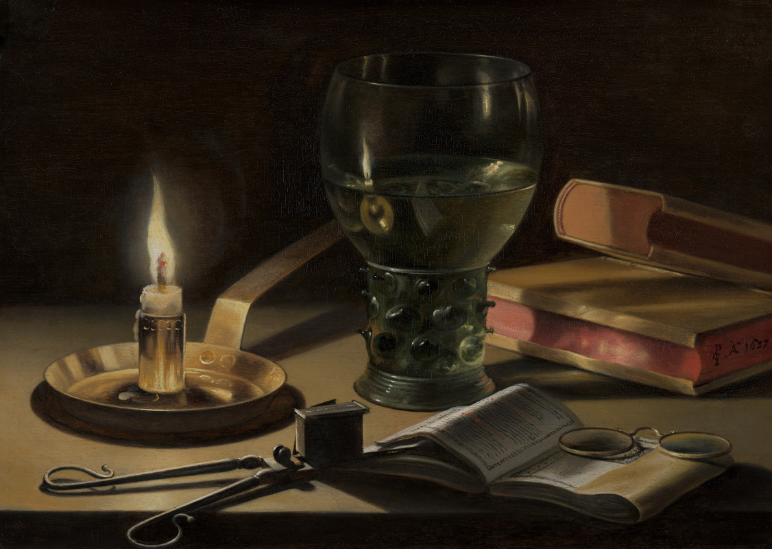 Pieter Claesz. Still life with burning candle