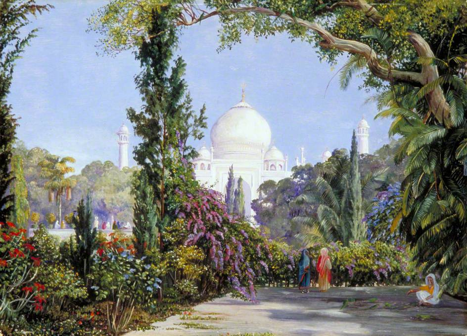 Marianna North. View of the Taj Mahal from Agra, India