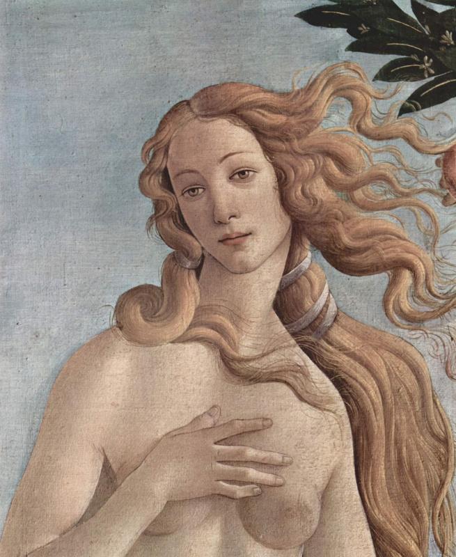 Сандро Боттичелли. Рождение Венеры. Деталь