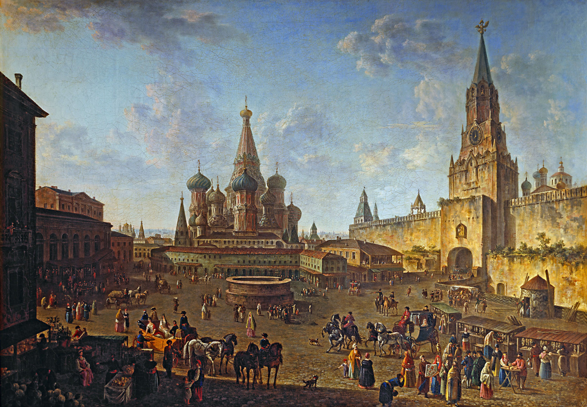Fedor Yakovlevich Alekseev. Red square in Moscow