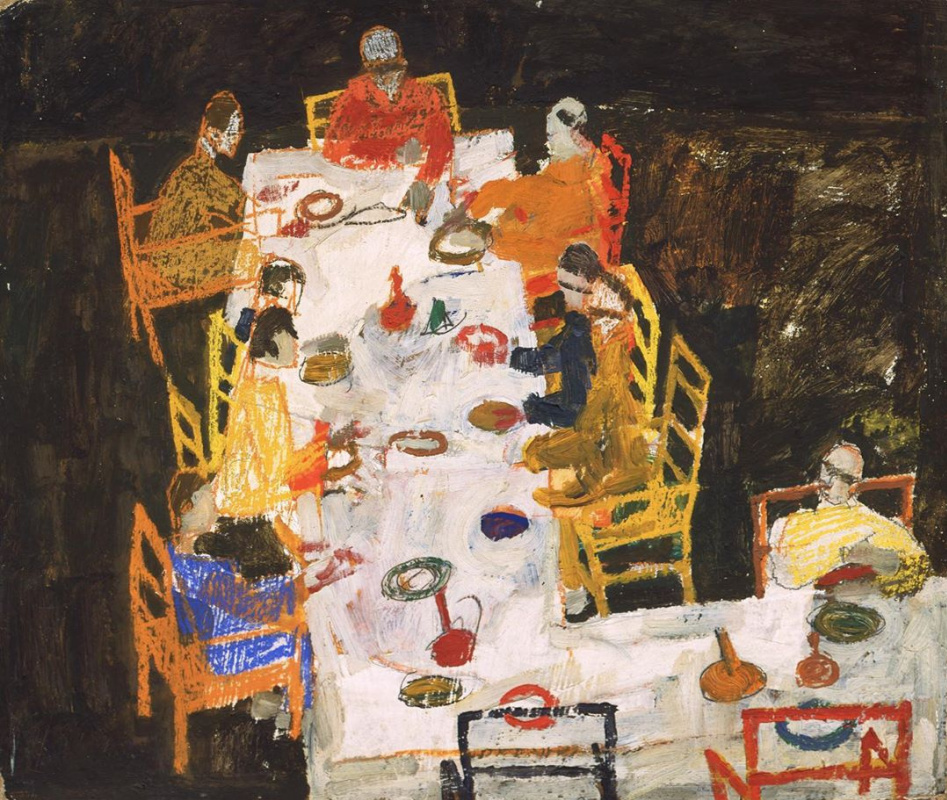 Egon Schiele. Sketch for a Group Portrait (Friends)