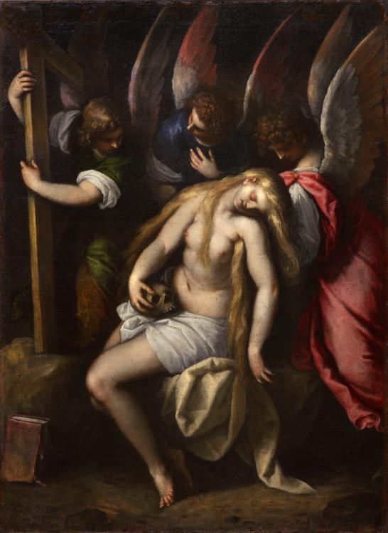 Джакомо Пальма Младший. Святая Мария Магдалина, поддерживаемая ангелами