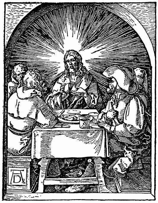 Альбрехт Дюрер. Христос с учениками в Эммаусе