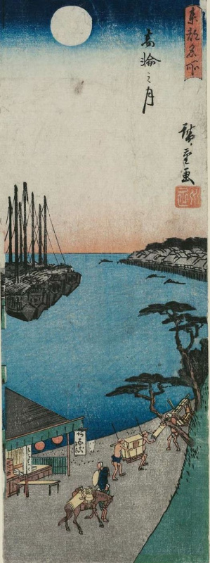Utagawa Hiroshige. Full moon over Takanawa, from the series the best views of the Eastern capital