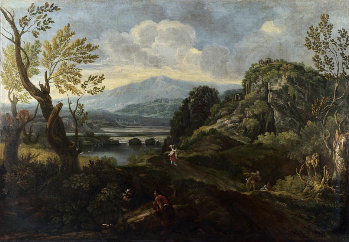 Онофри Крескензио. Пейзаж с фигурами