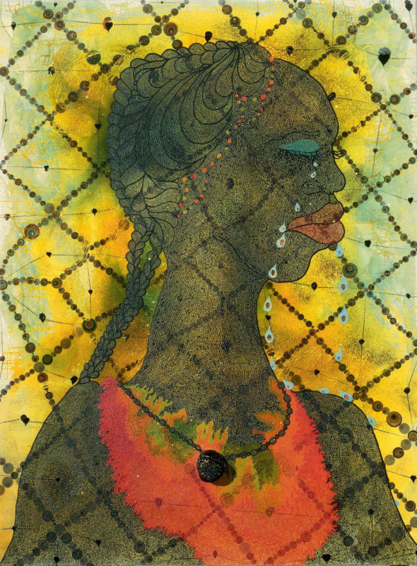 Chris Ofili. Don't cry, woman