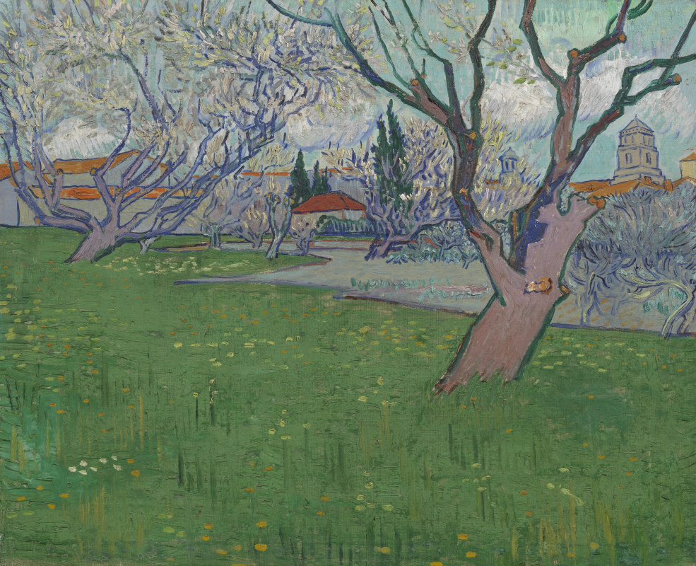 Vincent van Gogh. View of Arles with trees in blossom