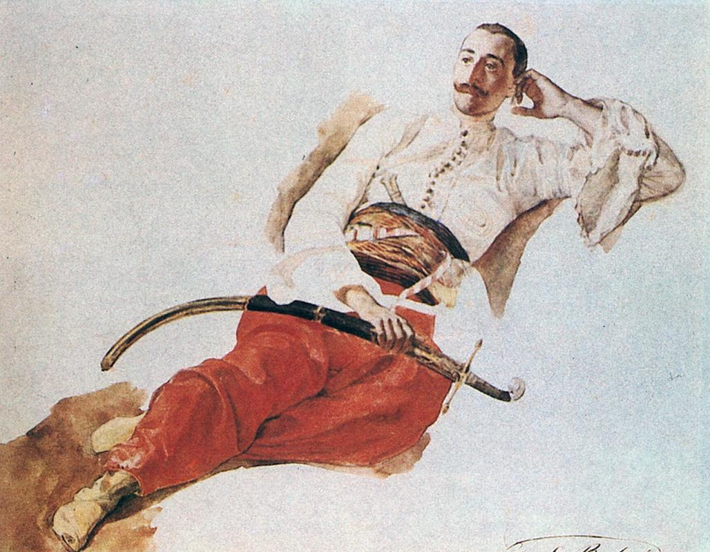 Карл Павлович Брюллов. Портрет Чихачева