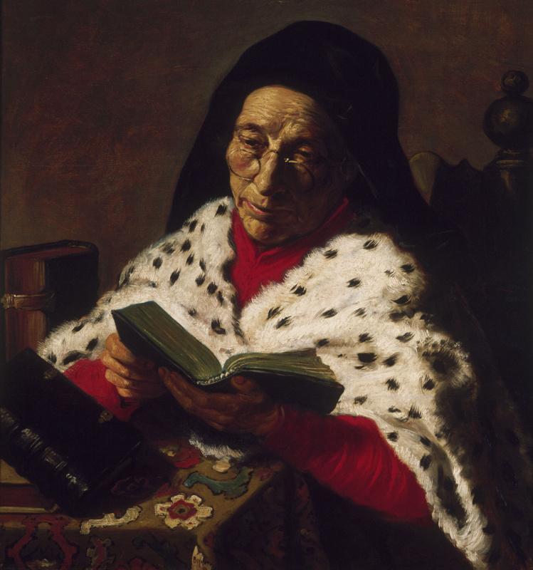 Jan Lievens. Elderly woman reading