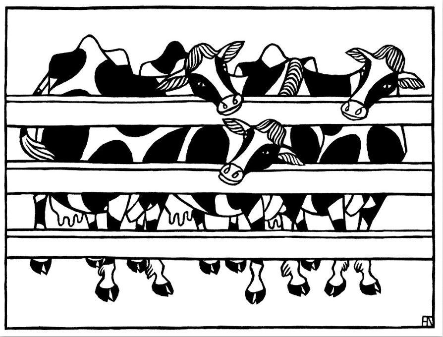Яков Гниздовский. Три коровы