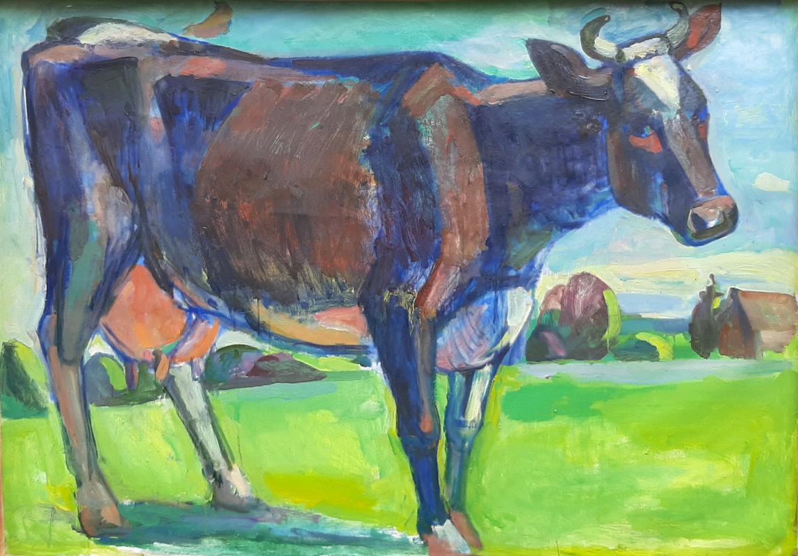 Elena Evgenievna Garshina. Young cow