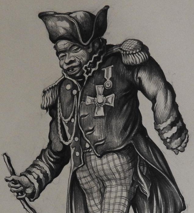 Anton Pieck. Black Napoleon
