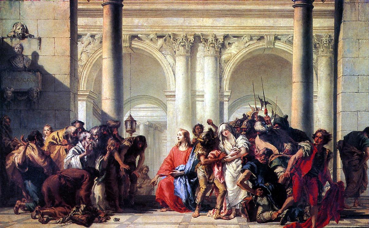 Giovanni Domenico Tiepolo. Christ and the sinner