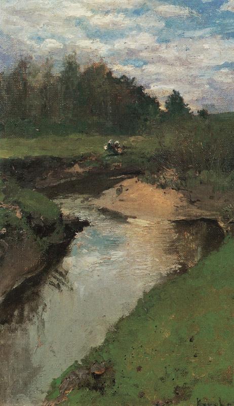 Konstantin Kororin. The river of Vorya. Abramtsevo