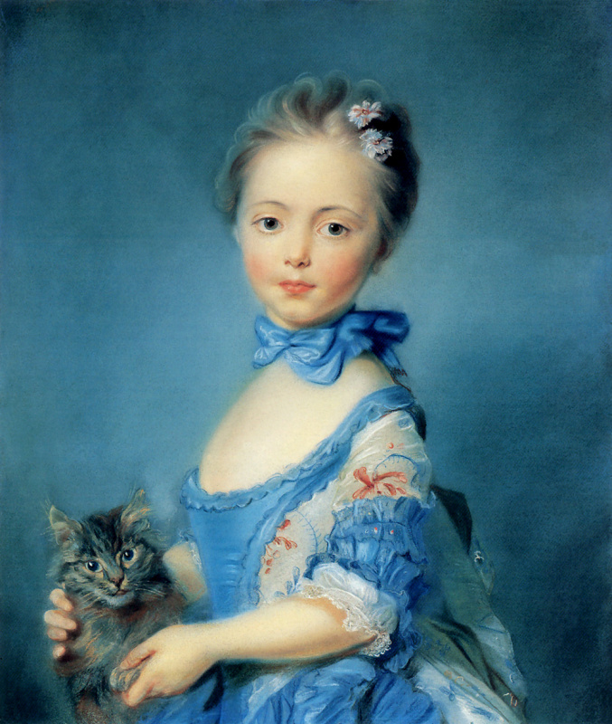 Жан Перроно. Девушка с котенком
