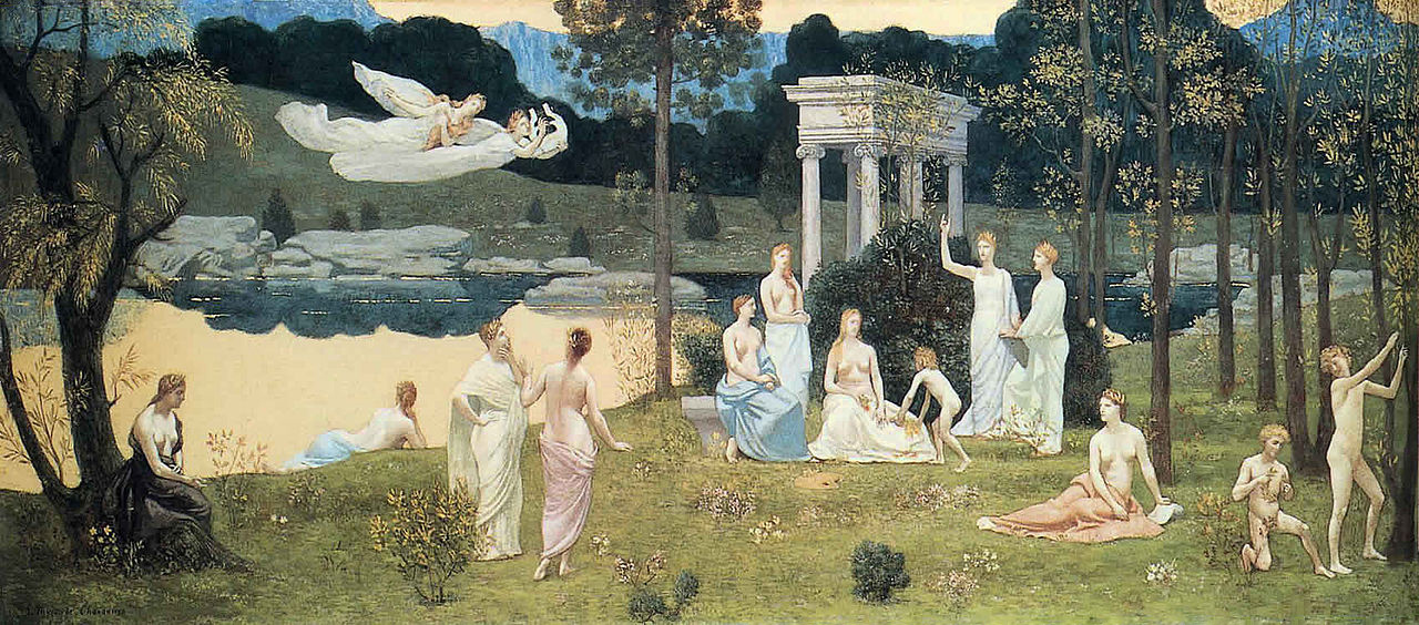 Pierre Cecil Puvi de Chavannes. Sacred grove, beloved of the arts and muses