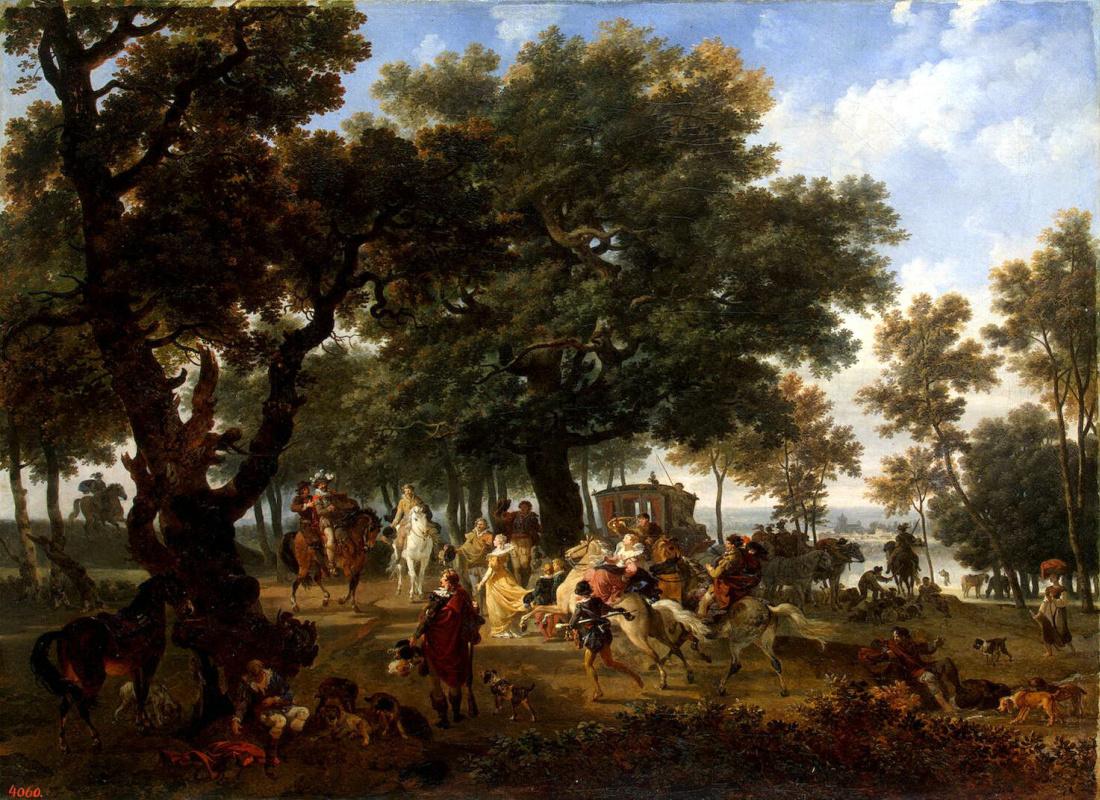Никола Тоне. Генрих IV со свитой на охоте