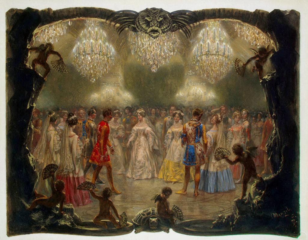 Адольф фон Менцель. Бал в Новом дворце