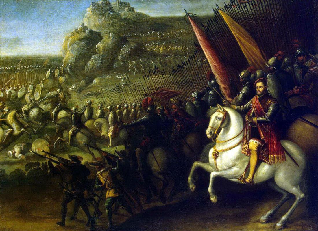 Хуан де ла Корте. Сражение
