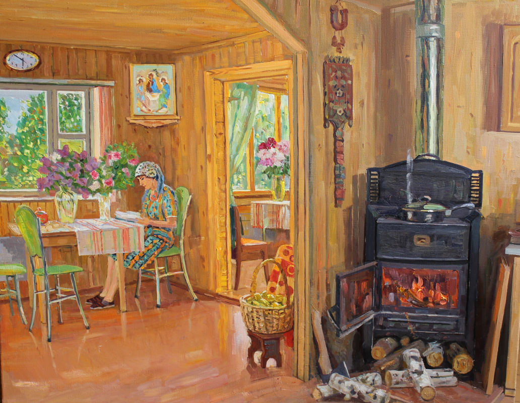 Евгений Александрович Казанцев. It's warm in my room.