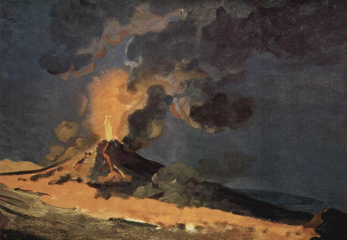 Joseph Wright. The Eruption Of Mount Vesuvius