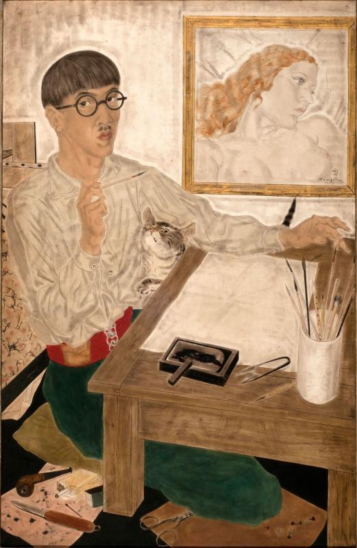 Цугухару Фудзита (Леонар Фужита). Автопортрет