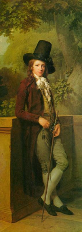 Иоганн Фридрих Август Тишбейн. Портрет господина Шателена, фрагмент