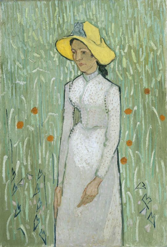 Винсент Ван Гог. Девушка на фоне пшеничного поля (Девушка в белом)