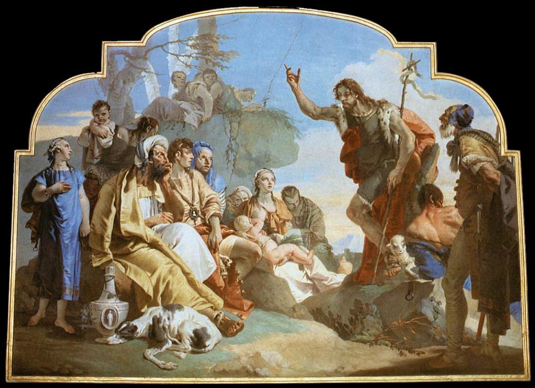 Джованни Баттиста Тьеполо. Иоанн Креститель проповедует