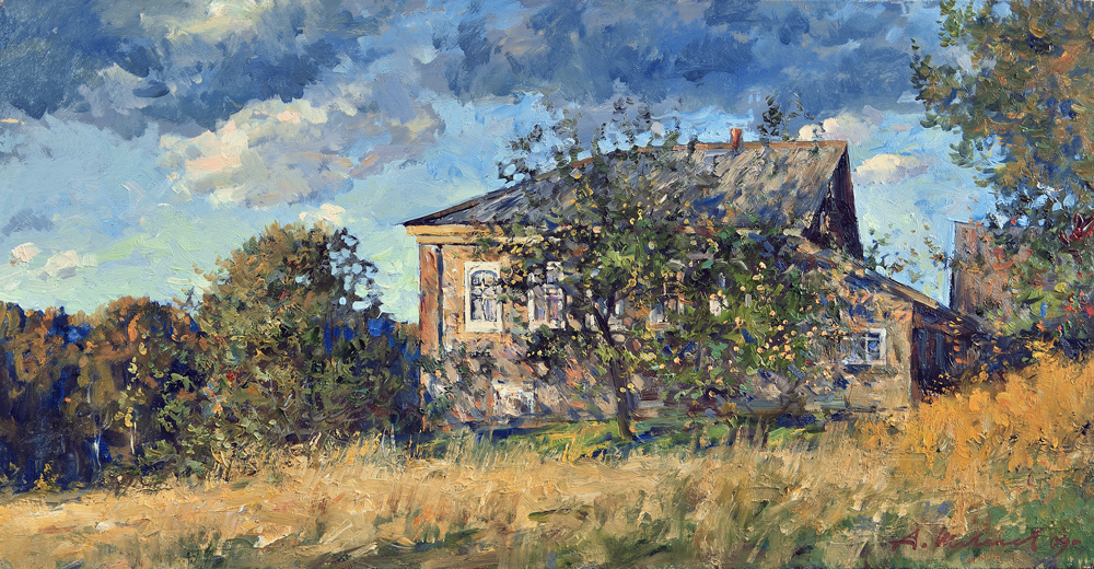 Alexander Victorovich Shevelyov. House Yurchenko.Oil on canvas 31,2 # 60,2 cm, 2009
