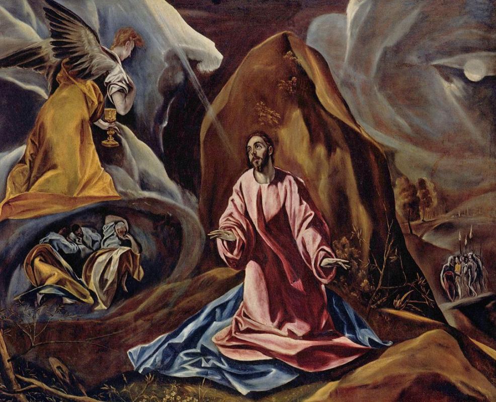 Domenico Theotokopoulos (El Greco). The agony in the garden