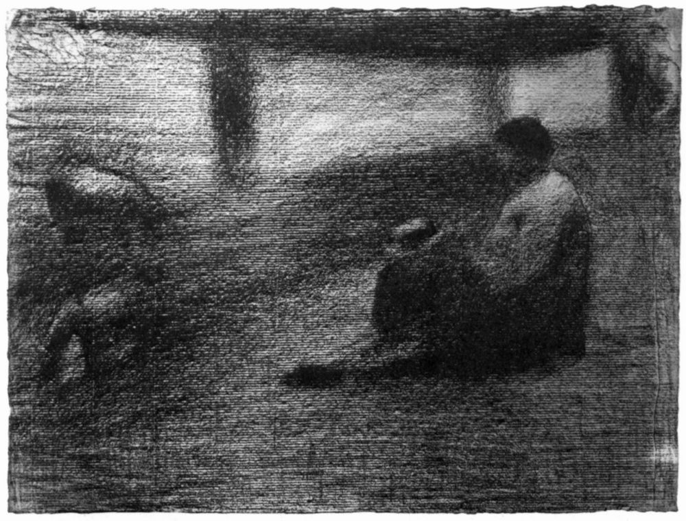 Georges Seurat. Underwear on the rope