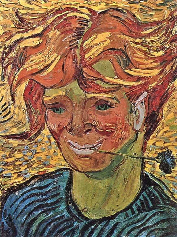 Винсент Ван Гог. Молодой мужчина с васильком