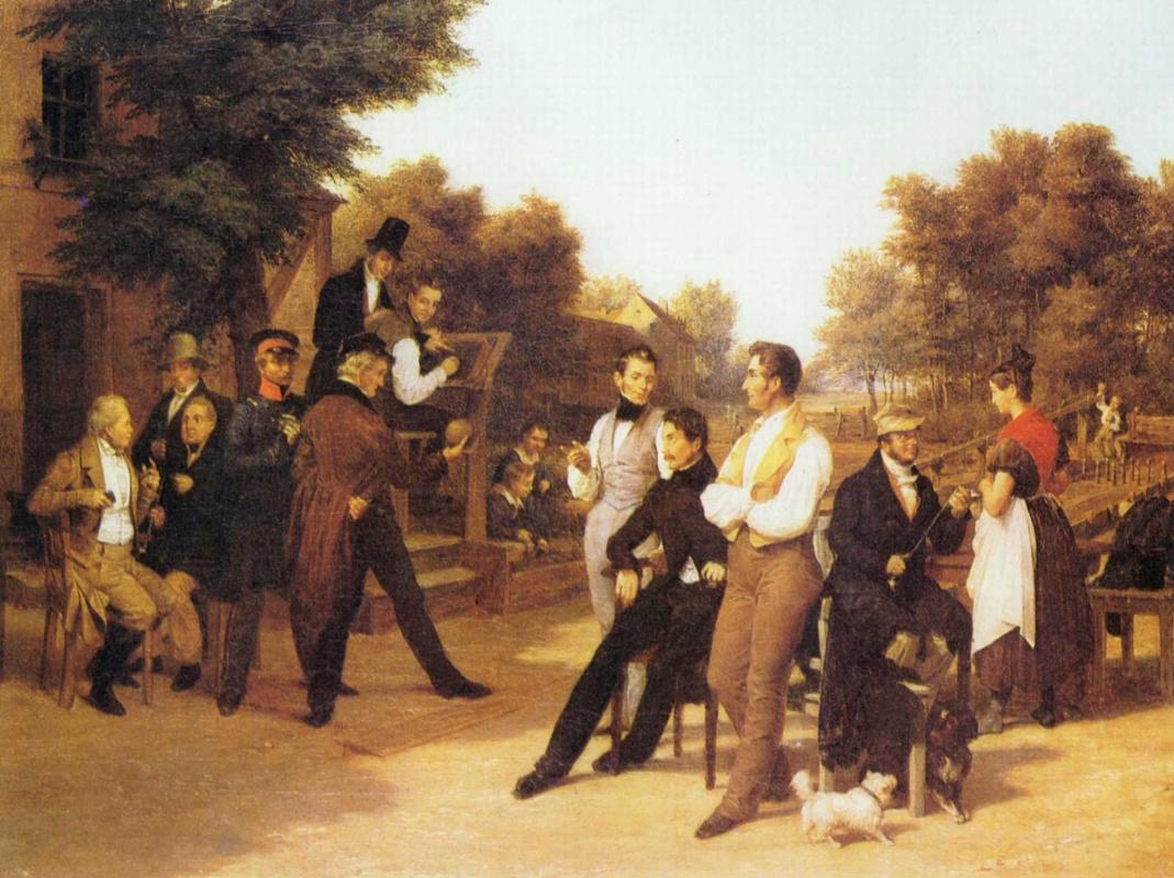 Фридрих Эдуард Майерхайм. Игроки в кегли