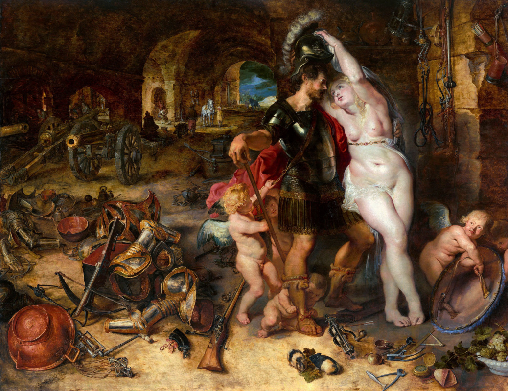 Peter Paul Rubens. The return from war: Venus disarms Mars
