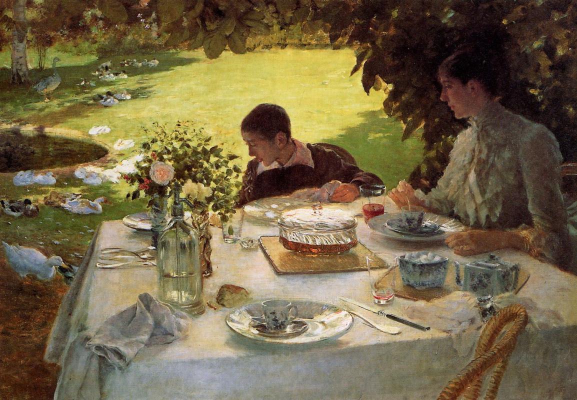 Джузеппе де Ниттис. Завтрак в саду