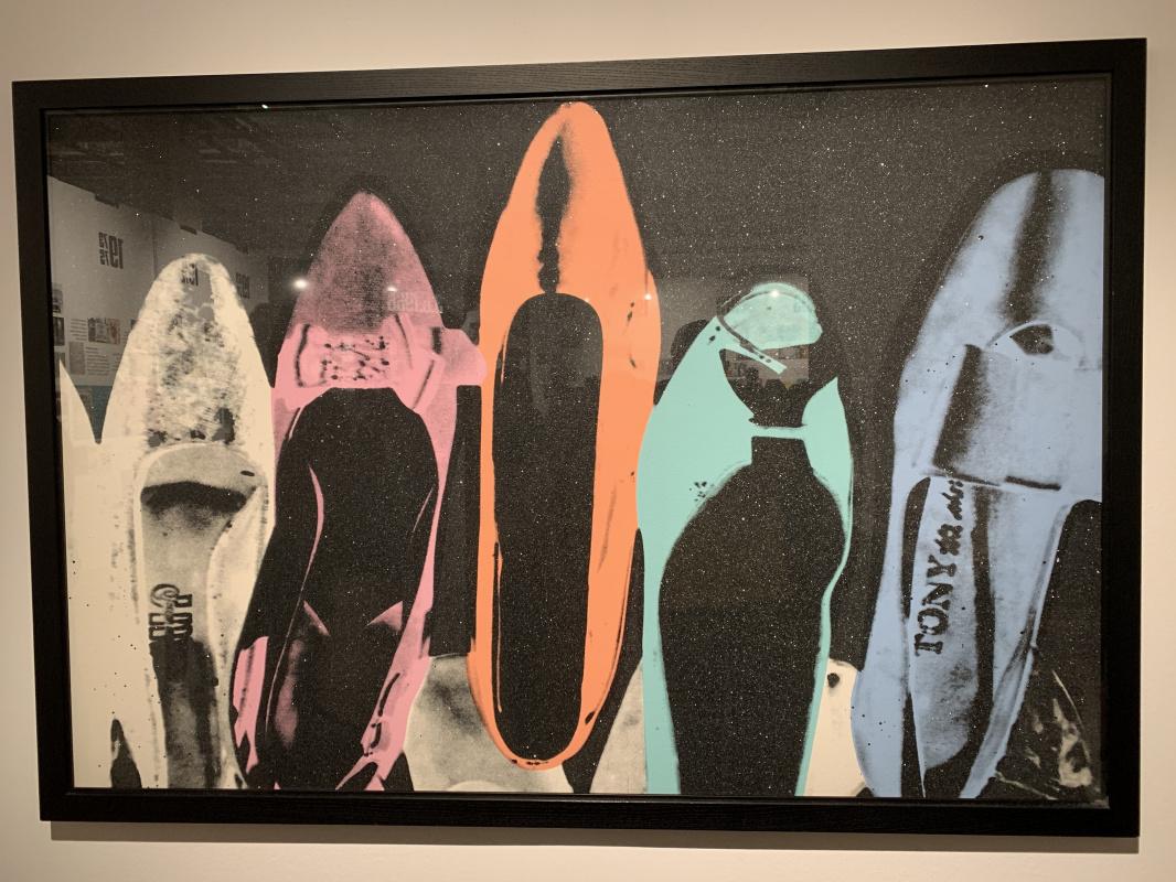 Andy Warho. Diamond-coated shoes