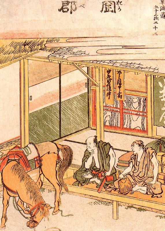 Кацусика Хокусай. Выступление с лошадью